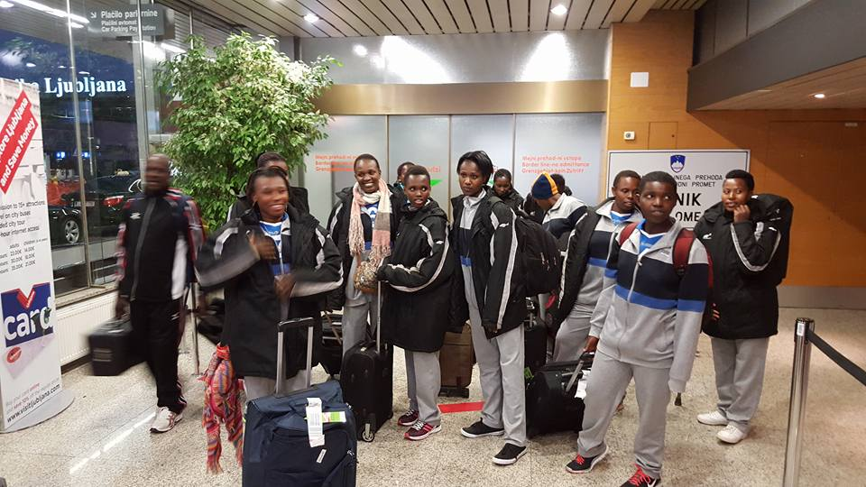 Rwanda Women Sitting Volleyball in Slovenia